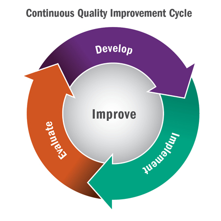Quality Improvement Cycle Graphic